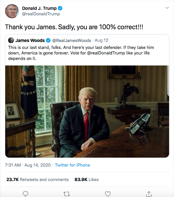 Screen-Shot-2020-08-14-at-9.23.08-AM Trump Goes Full Racist With Crazed Friday Morning Meltdown Donald Trump Election 2020 Featured Politics Top Stories Twitter
