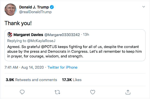 Screen-Shot-2020-08-14-at-9.27.14-AM Trump Goes Full Racist With Crazed Friday Morning Meltdown Donald Trump Election 2020 Featured Politics Top Stories Twitter