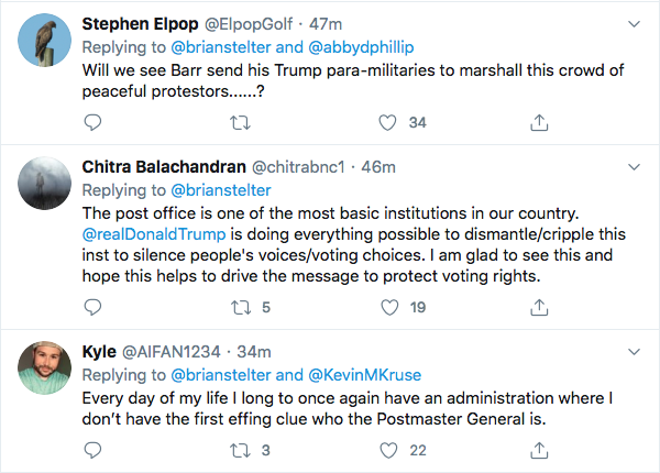 Screen-Shot-2020-08-15-at-9.30.05-AM Protesters Swarm Postmaster General's House In Saturday Protest Corruption Donald Trump Election 2020 Featured Politics Top Stories Videos