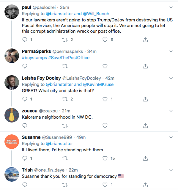Screen-Shot-2020-08-15-at-9.31.52-AM Protesters Swarm Postmaster General's House In Saturday Protest Corruption Donald Trump Election 2020 Featured Politics Top Stories Videos