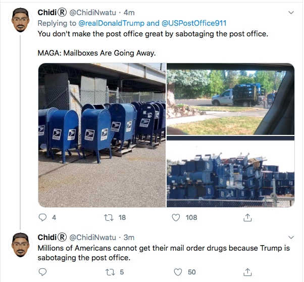 Screen-Shot-2020-08-17-at-12.36.12-PM Trump Tweets Mid-Day Mental Malfunction Over USPS Sabotage Fallout Uncategorized