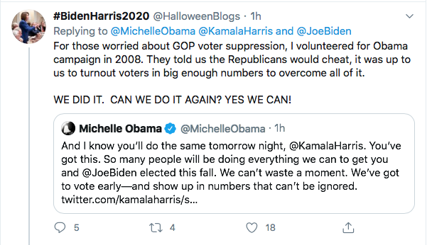 Screen-Shot-2020-08-18-at-5.26.17-PM Michelle Obama Tweets Heroic DNC Speech Advice To Kamala Harris Election 2020 Featured Politics Top Stories Videos