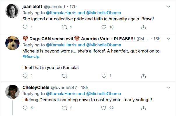 Screen-Shot-2020-08-18-at-5.28.54-PM Michelle Obama Tweets Heroic DNC Speech Advice To Kamala Harris Election 2020 Featured Politics Top Stories Videos