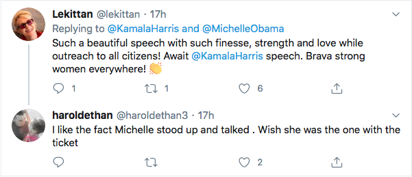 Screen-Shot-2020-08-18-at-5.31.02-PM Michelle Obama Tweets Heroic DNC Speech Advice To Kamala Harris Election 2020 Featured Politics Top Stories Videos