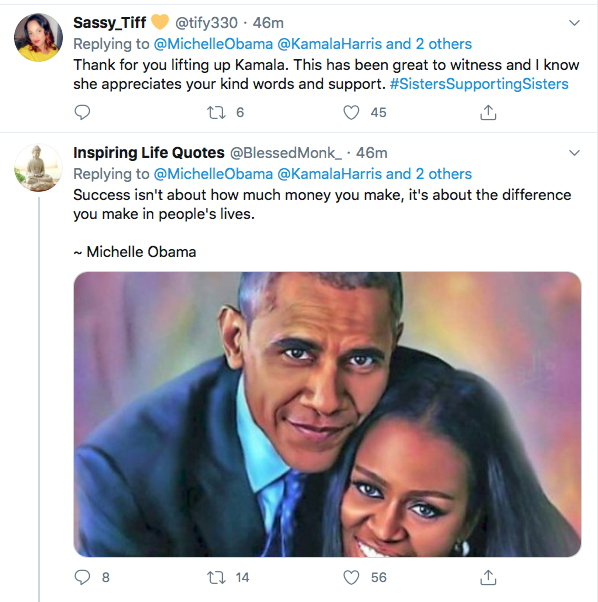 Screen-Shot-2020-08-19-at-6.51.09-PM Michelle Obama Tweets Pre-DNC Pep Talk To Harris & Democrats Election 2020 Featured Politics Top Stories Twitter