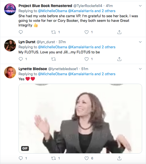 Screen-Shot-2020-08-19-at-6.53.17-PM Michelle Obama Tweets Pre-DNC Pep Talk To Harris & Democrats Election 2020 Featured Politics Top Stories Twitter