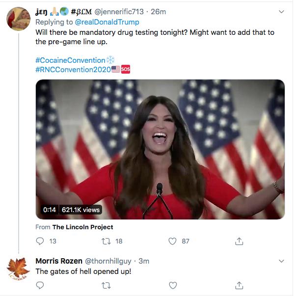 Screen-Shot-2020-08-25-at-8.05.04-PM Trump Kicks Of Night 2 Of RNC With Deranged Ballot Fraud Meltdown Donald Trump Election 2020 Featured Politics Top Stories Twitter