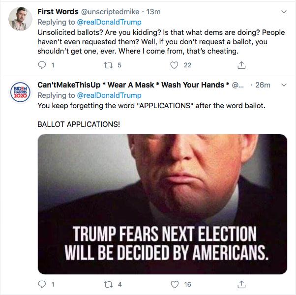 Screen-Shot-2020-08-25-at-8.08.41-PM Trump Kicks Of Night 2 Of RNC With Deranged Ballot Fraud Meltdown Donald Trump Election 2020 Featured Politics Top Stories Twitter