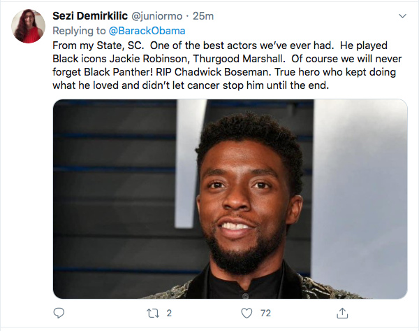 Screen-Shot-2020-08-29-at-11.13.45-AM Obama Out Leads Trump With Tear-Jerking Chadwick Boseman Tribute Celebrities Featured Politics Top Stories Twitter
