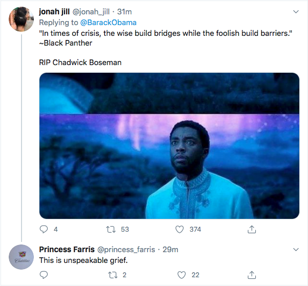 Screen-Shot-2020-08-29-at-11.14.01-AM Obama Out Leads Trump With Tear-Jerking Chadwick Boseman Tribute Celebrities Featured Politics Top Stories Twitter
