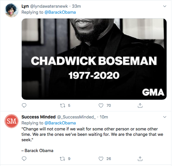 Screen-Shot-2020-08-29-at-11.14.30-AM Obama Out Leads Trump With Tear-Jerking Chadwick Boseman Tribute Celebrities Featured Politics Top Stories Twitter