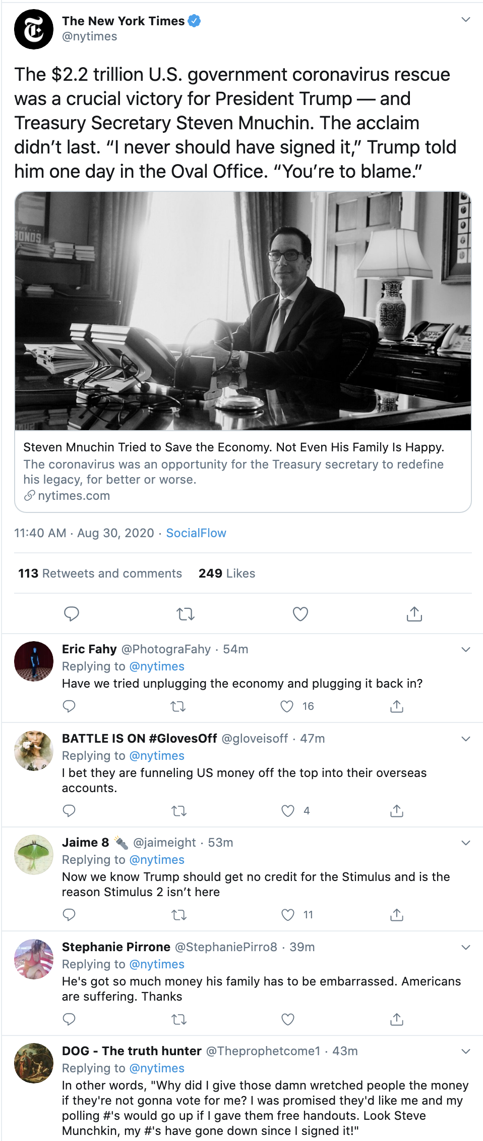 Screen-Shot-2020-08-30-at-12.36.34-PM Steve Mnuchin's Family Publicly Shames Him Over Racism & Trump Economy Featured Natural Disaster Politics Top Stories
