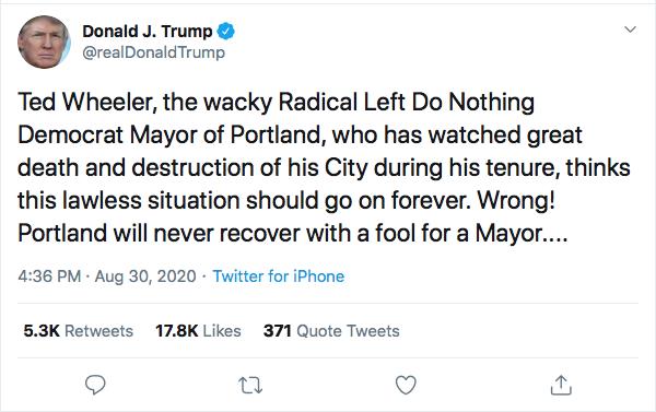 Screen-Shot-2020-08-30-at-4.50.38-PM Trump Tweets Violent Rhetoric During Sunday Evening Meltdown Black Lives Matter Donald Trump Election 2020 Featured Politics Top Stories Twitter