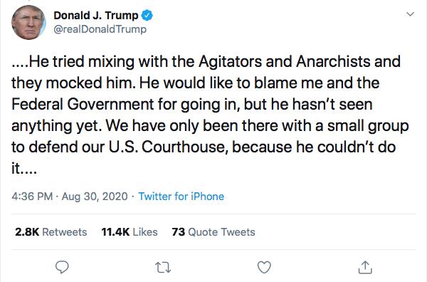 Screen-Shot-2020-08-30-at-4.50.49-PM Trump Tweets Violent Rhetoric During Sunday Evening Meltdown Black Lives Matter Donald Trump Election 2020 Featured Politics Top Stories Twitter