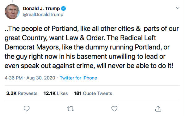 Screen-Shot-2020-08-30-at-4.51.03-PM Trump Tweets Violent Rhetoric During Sunday Evening Meltdown Black Lives Matter Donald Trump Election 2020 Featured Politics Top Stories Twitter