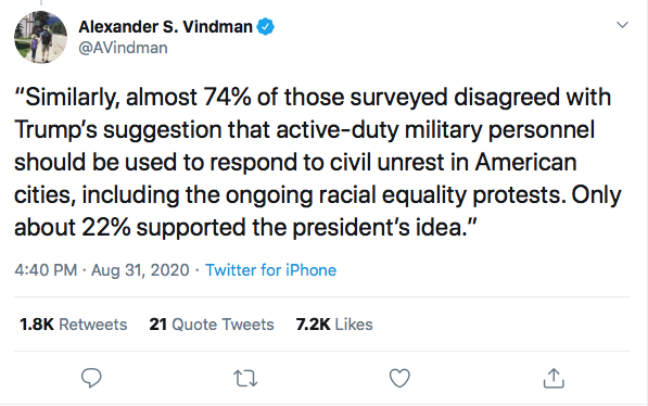 Screen-Shot-2020-08-31-at-9.23.43-PM Alexander Vindman Trolls Trump Over Poll Showing Military Members Loving Biden Donald Trump Election 2020 Featured Military Politics Top Stories