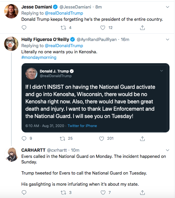 Screen-Shot-2020-08-31-at-9.31.04-AM Trump Has 5-Tweet Morning Eruption of Insanity Donald Trump Election 2020 Featured Politics Top Stories Twitter