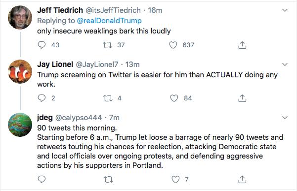 Screen-Shot-2020-08-31-at-9.32.20-AM Trump Has 5-Tweet Morning Eruption of Insanity Donald Trump Election 2020 Featured Politics Top Stories Twitter