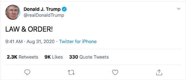 Screen-Shot-2020-08-31-at-9.45.03-AM Trump Has 5-Tweet Morning Eruption of Insanity Donald Trump Election 2020 Featured Politics Top Stories Twitter