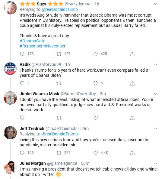 Screenshot-2020-08-05-at-11.18.17-AM Trump Charges Obama & Biden With Dual 'Treason' Corruption Donald Trump Politics Russia Social Media Top Stories