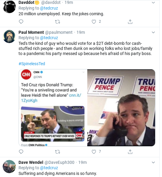 Screenshot-2020-08-10-at-1.26.27-PM Ted Cruz Suffers Deep Public Embarrassment After Monday Flub Donald Trump Economy Politics Social Media Top Stories
