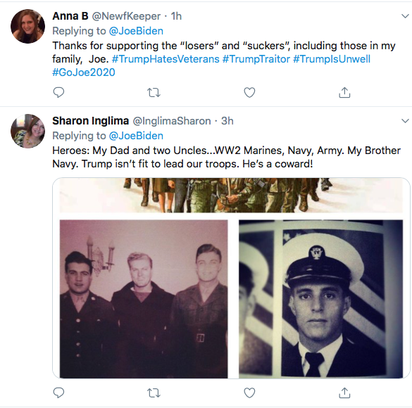 Screen-Shot-2020-09-04-at-10.40.28-AM Biden Publicly Shames Trump For Calling Troops 'Losers' Donald Trump Election 2020 Featured Military Politics Top Stories Twitter