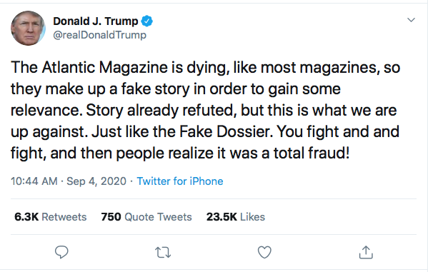 Screen-Shot-2020-09-04-at-11.08.22-AM Trump Tweets At 'The Atlantic' Magazine Like A Defeated 'Loser' Donald Trump Election 2020 Featured Military Politics Top Stories Twitter