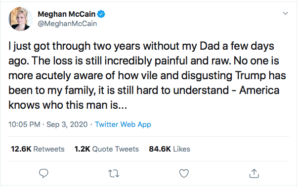 Screen-Shot-2020-09-04-at-9.52.59-AM Family Of John McCain Publicly Shame Disgusting Donald Trump Donald Trump Election 2020 Featured Military Politics Top Stories Twitter