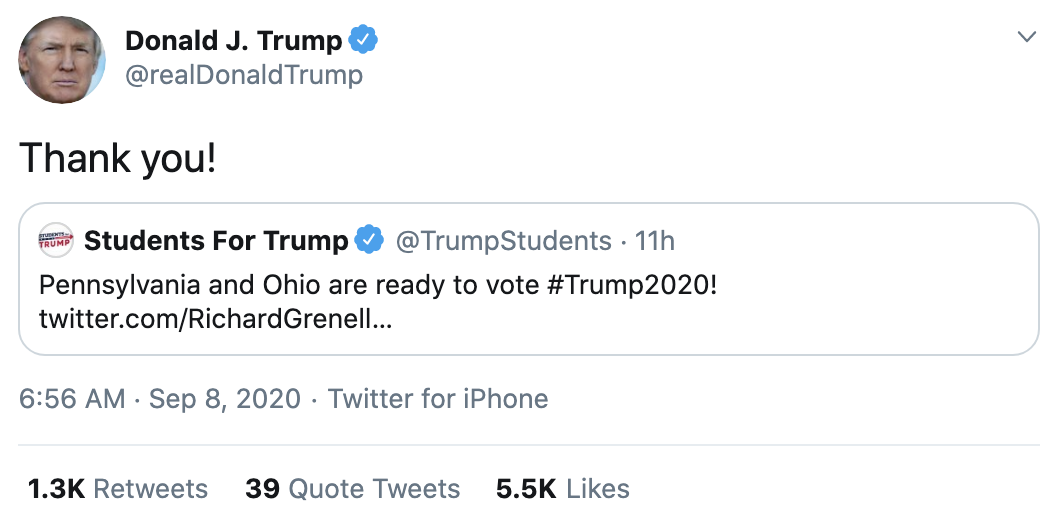 Screen-Shot-2020-09-08-at-7.23.55-AM Trump Erupts Into Deranged 18-Tweet Morning Mega Rant Featured Mental Illness Politics Top Stories