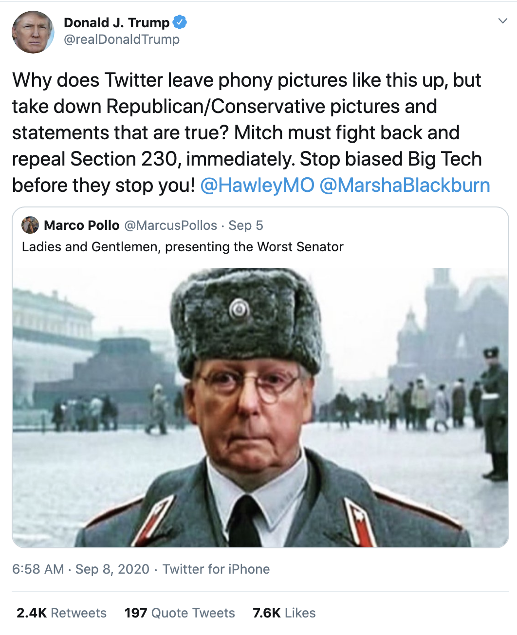Screen-Shot-2020-09-08-at-7.25.37-AM Trump Erupts Into Deranged 18-Tweet Morning Mega Rant Featured Mental Illness Politics Top Stories