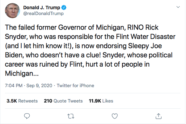 Screen-Shot-2020-09-09-at-7.23.42-PM Trump Sees Woodward Coverage & Suffers 5-Tweet Evening Meltdown Coronavirus Donald Trump Election 2020 Featured Politics Top Stories Twitter