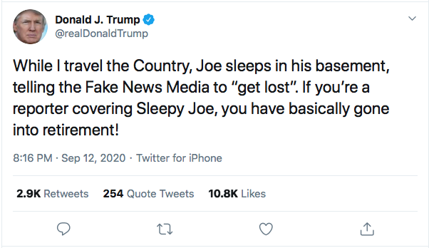 Screen-Shot-2020-09-12-at-8.24.39-PM Trump Live-Tweets Saturday Night Spazz Out Donald Trump Election 2020 Featured Politics Top Stories Twitter