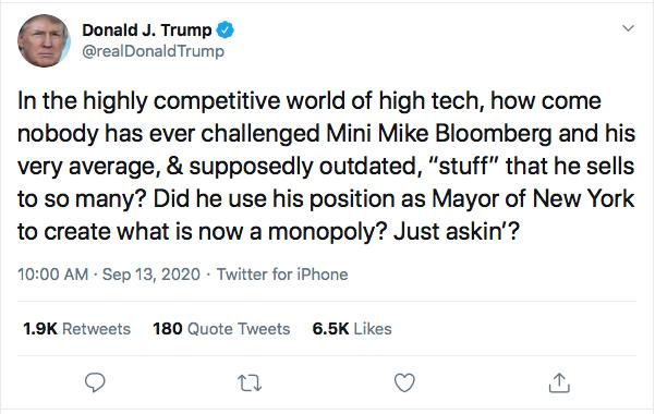Screen-Shot-2020-09-13-at-10.07.39-AM Trump Has Multi-Tweet Sunday Morning Eruption Of Insanity Donald Trump Election 2020 Featured Politics Top Stories Twitter