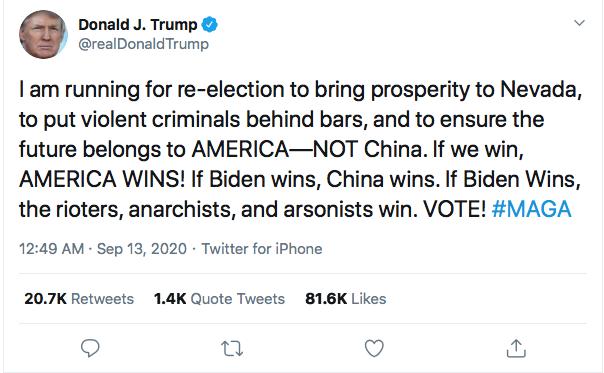 Screen-Shot-2020-09-13-at-9.04.46-AM Trump Launches Weekend Mega-Rant Demanding 12 Year Presidential Term Donald Trump Election 2020 Featured Politics Top Stories Videos