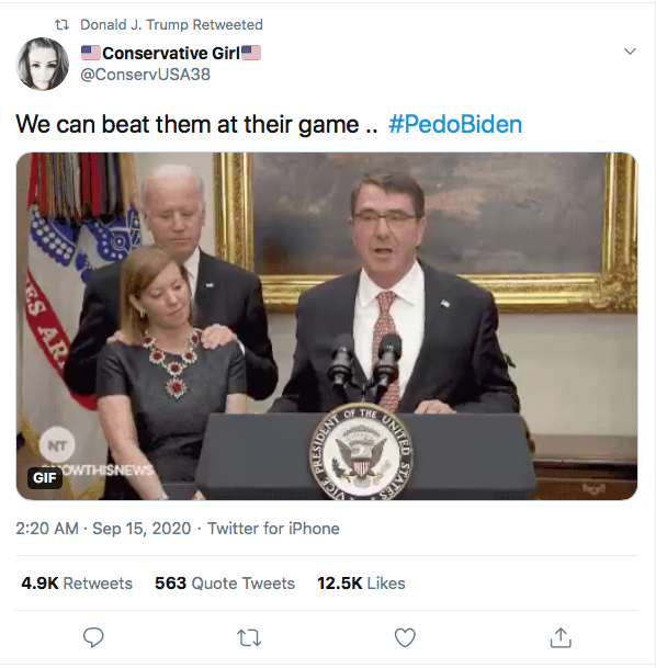 Screen-Shot-2020-09-15-at-10.16.06-AM Trump Implies Biden Is A Pedophile During Morning Meltdown Donald Trump Election 2020 Featured Politics Top Stories Twitter