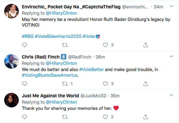 Screen-Shot-2020-09-19-at-11.54.08-AM Hillary Mobilizes Democrats With RBG Death Tribute & Rallying Cry Election 2020 Featured Hillary Clinton Politics Supreme Court Top Stories