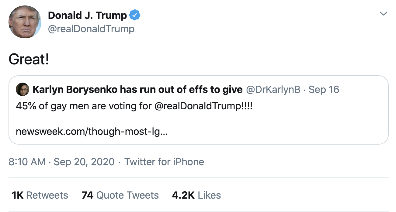 Screen-Shot-2020-09-20-at-8.15.52-AM Trump Fires-Off 14 Deranged Tweets During Sunday Morning Meltdown Conspiracy Theory Election 2020 Featured Politics Top Stories