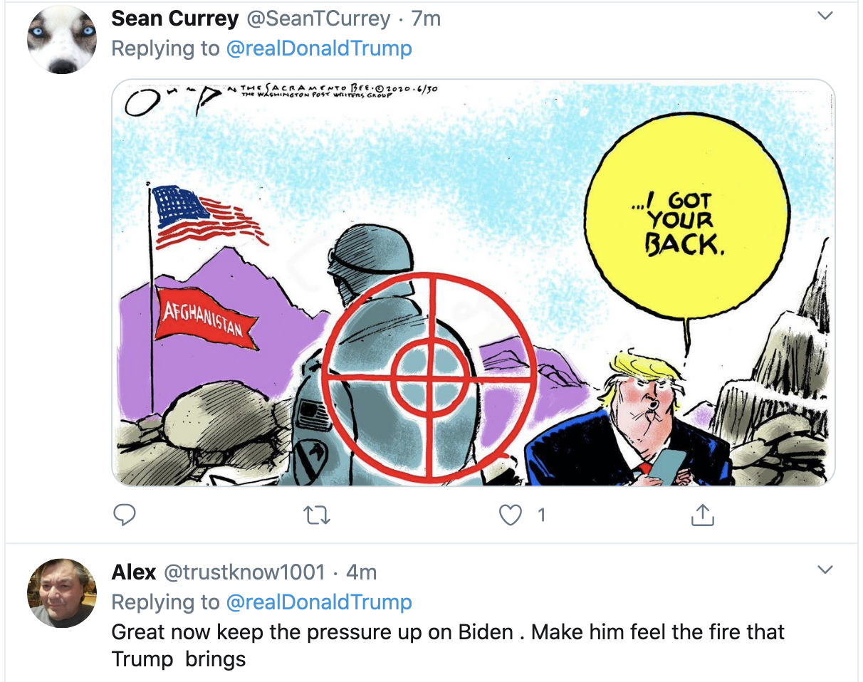 Screen-Shot-2020-09-22-at-7.21.50-AM Trump Launches 4-Tweet 'Crazy Nancy' Morning SCOTUS Meltdown Election 2020 Featured Military Politics Top Stories