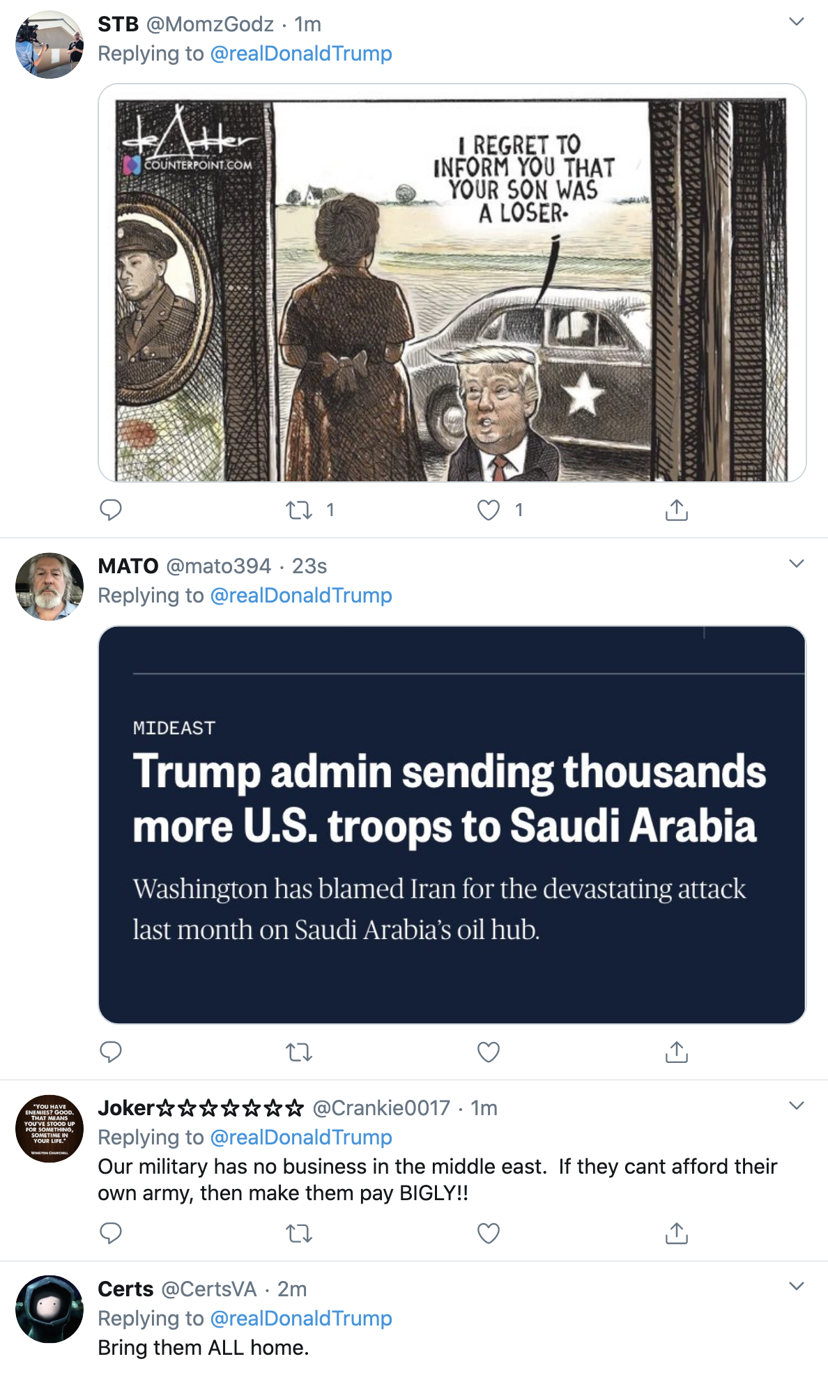 Screen-Shot-2020-09-22-at-7.24.03-AM Trump Launches 4-Tweet 'Crazy Nancy' Morning SCOTUS Meltdown Election 2020 Featured Military Politics Top Stories