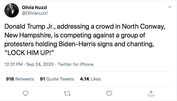 Screen-Shot-2020-09-24-at-3.49.12-PM Don Jr Humiliated At Campaign Rally After Hecklers Troll Him Hard Donald Trump Election 2020 Featured Politics Top Stories Twitter