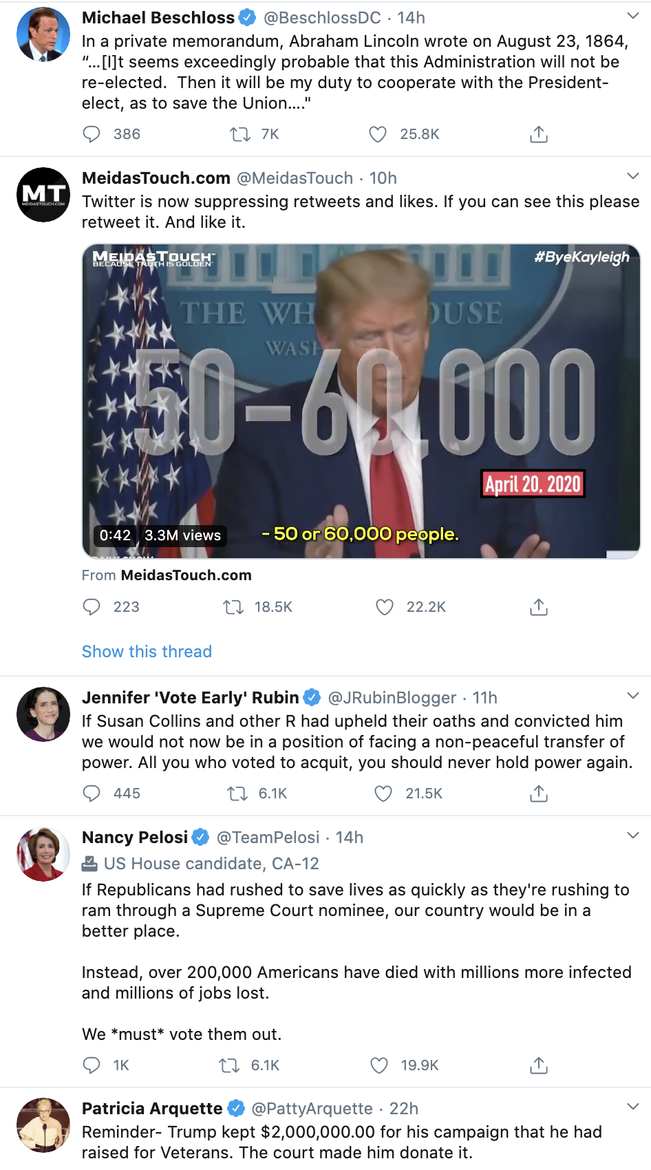 Screen-Shot-2020-09-24-at-9.20.28-AM 'The Lincoln Project' Issues Direct Threat To Trump: 'We Are Watching' Corruption Election 2020 Politics Top Stories