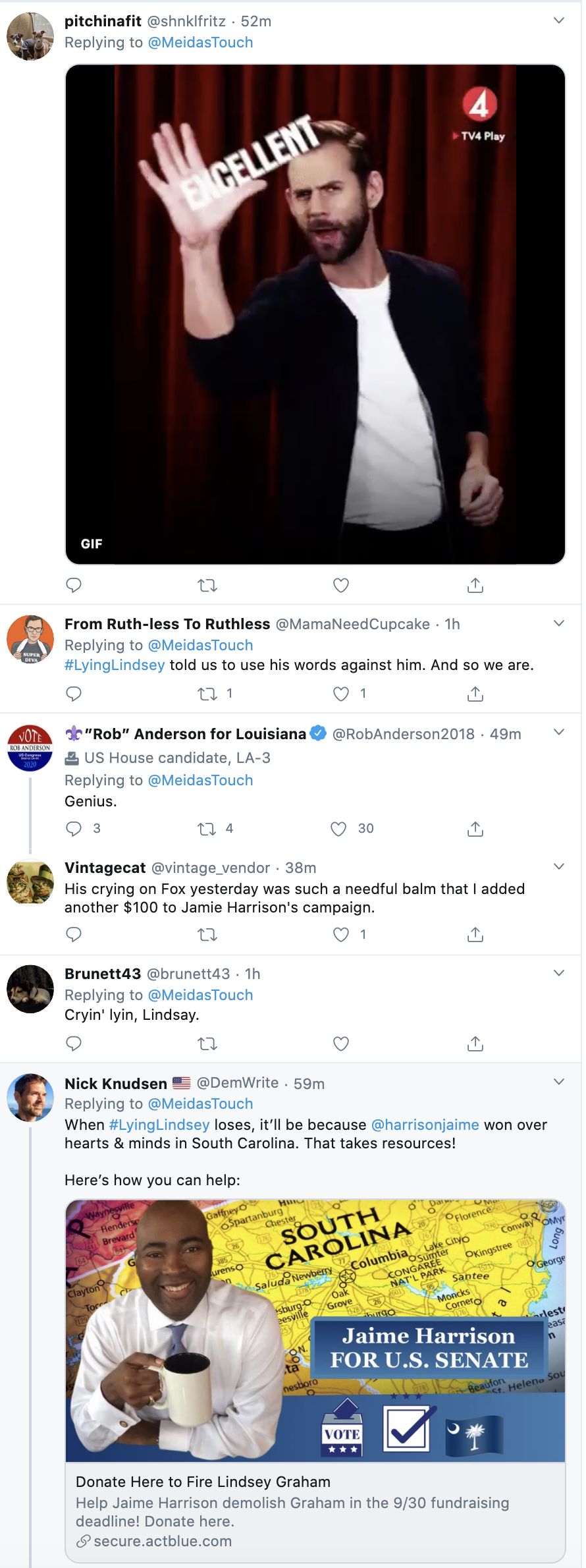 Screen-Shot-2020-09-25-at-10.31.19-AM Lindsey Graham Smoked By Viral New Ad Highlighting His Incompetence Election 2020 Featured Mental Illness Politics Top Stories