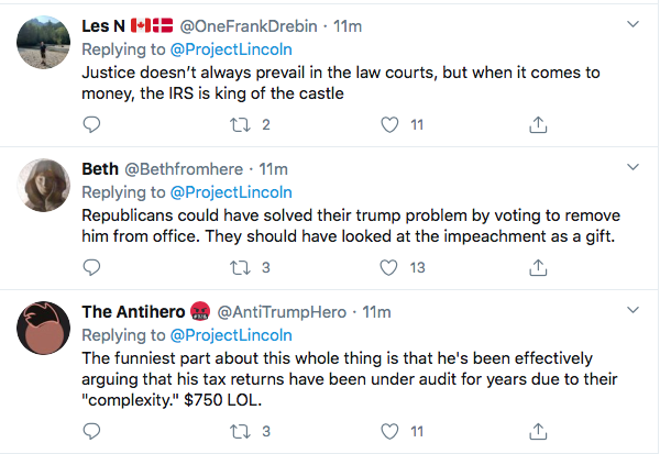Screen-Shot-2020-09-27-at-7.07.55-PM 'The Lincoln Project' Embarrasses Trump Over NY Times Tax Leak Donald Trump Election 2020 Featured Politics Top Stories Twitter