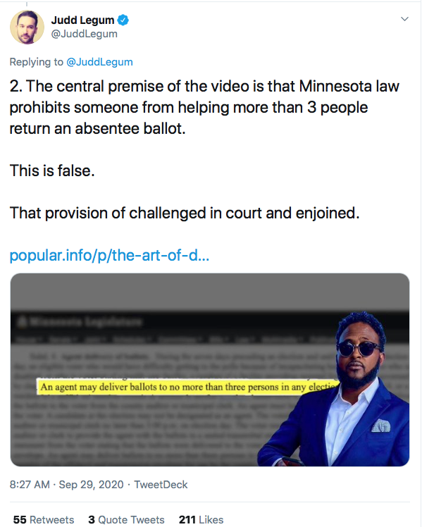 Screen-Shot-2020-09-29-at-9.44.03-AM Ilhan Omar 'Ballot Harvesting' Narrative Fully Debunked By Evidence Conspiracy Theory Donald Trump Election 2020 Featured Politics Top Stories Twitter