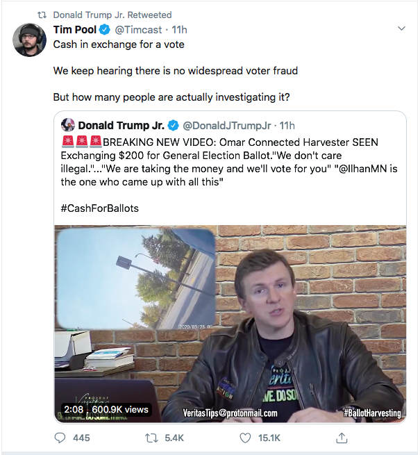Screen-Shot-2020-09-29-at-9.49.10-AM Ilhan Omar 'Ballot Harvesting' Narrative Fully Debunked By Evidence Conspiracy Theory Donald Trump Election 2020 Featured Politics Top Stories Twitter
