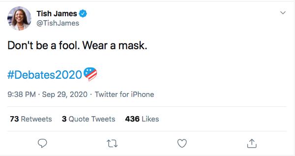 Screen-Shot-2020-09-30-at-11.13.35-AM NY Attorney General Humiliates Trump Over Poor Debate Performance Donald Trump Election 2020 Featured Politics Twitter