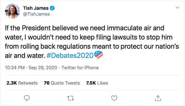 Screen-Shot-2020-09-30-at-11.13.48-AM NY Attorney General Humiliates Trump Over Poor Debate Performance Donald Trump Election 2020 Featured Politics Twitter