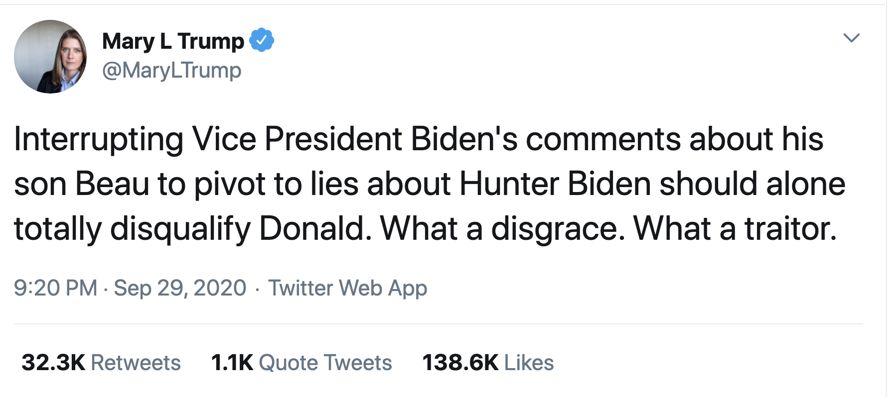 Screen-Shot-2020-09-30-at-11.24.59-AM Mary Trump Issues Post-Debate Trolling Of Creepy Uncle Donald Election 2020 Featured Mental Illness Politics Top Stories