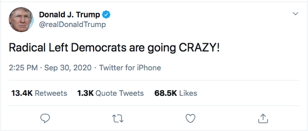 Screen-Shot-2020-09-30-at-3.37.06-PM Trump Spazzes Into Wildly Unhinged Afternoon Tweet Storm Over Debate Failure Donald Trump Election 2020 Featured Politics Top Stories Twitter
