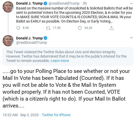 Screenshot-2020-09-03-at-4.03.25-PM Twitter Penalizes Trump's Account After He Encourages Crime Donald Trump Politics Social Media Top Stories